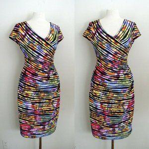 Joseph Ribkoff Textured Floral Two Way Dress Sz 10